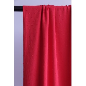 tissu crepon plumetis rouge