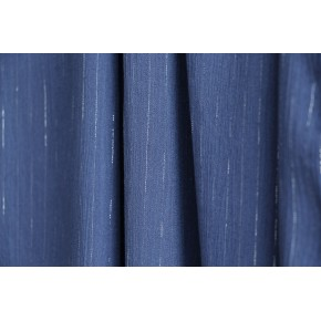 crepon de viscose bleu jean rayures lurex argent