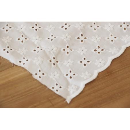 coton brodé ombeline blanc