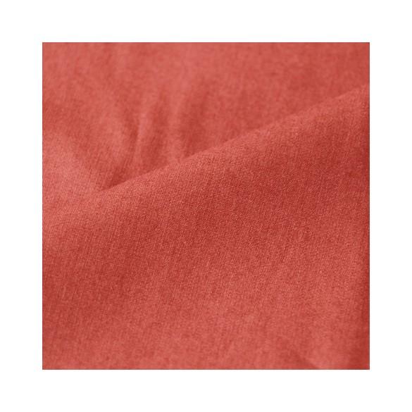 popeline de coton bio - terracotta