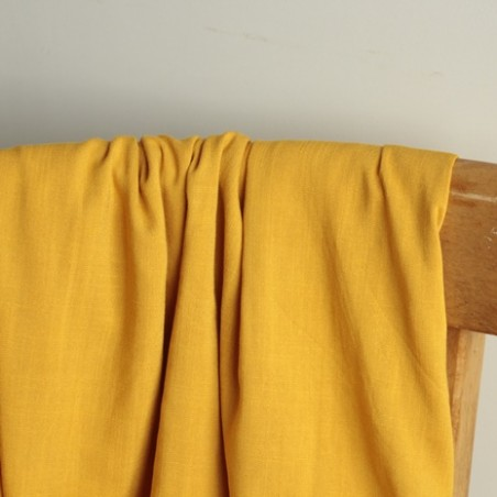 viscose stretch jaune ocre