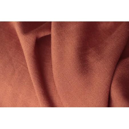 tissu viscose stretch brique