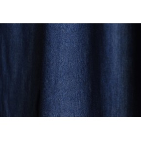 tissu tencel chambray bleu brut