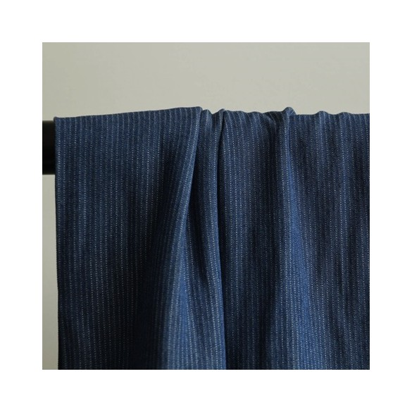 chambray viscose bleu brut