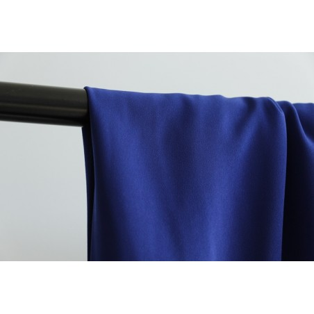 crêpe polyester haute gamme bleu