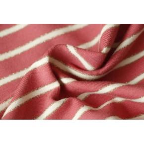 tissu marinière rose beige et doré