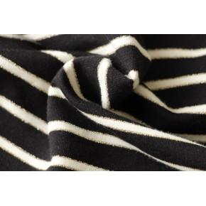 maille marinière lurex noir