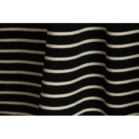 jersey marinière noir écru lurex doré