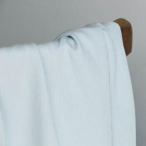 tissu viscose rayures fines bleu ciel