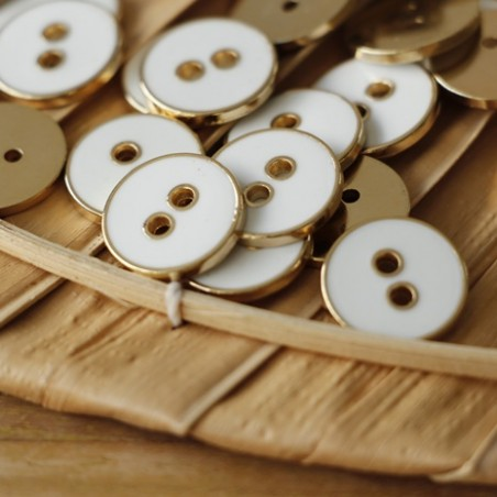bouton métal kurt blanc