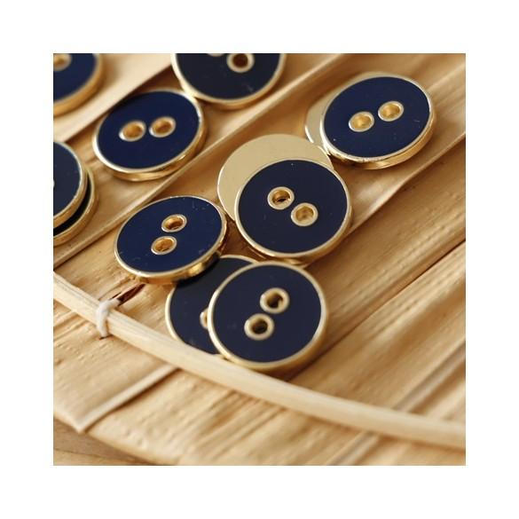 bouton métal kurt marine et doré