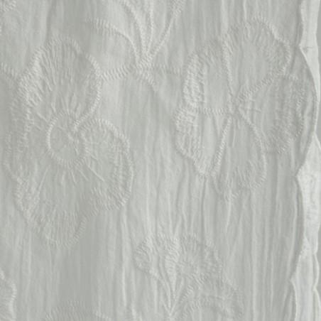 coton brodé écru