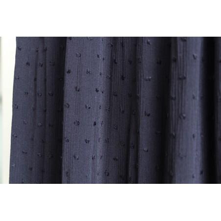 tissu crepon plumetis marine