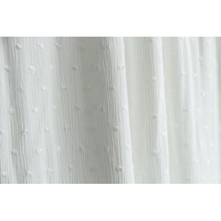 tissu crepon plumetis blanc