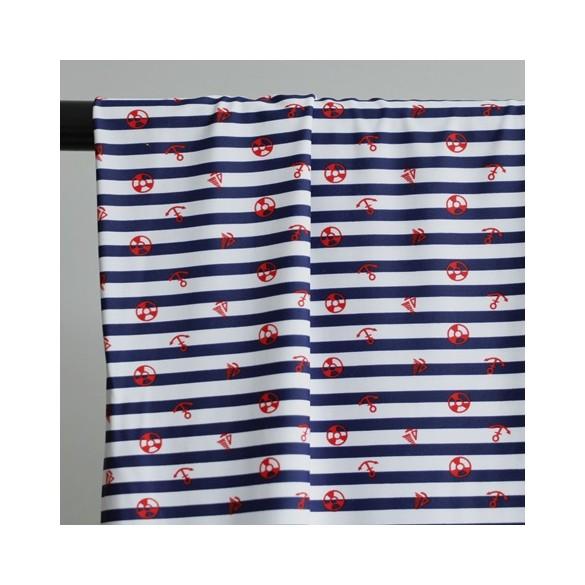 tissu maillot de bain rayures