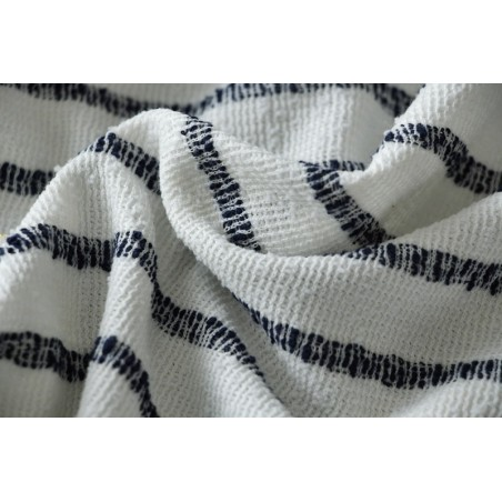 tissu rayé marine
