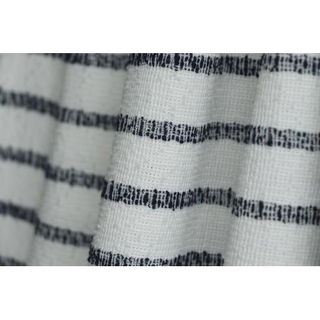 jersey rayé marine et blanc cassé