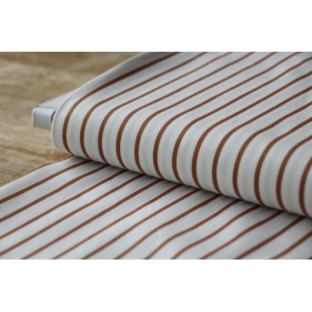 polycoton stretch à rayures - caramel