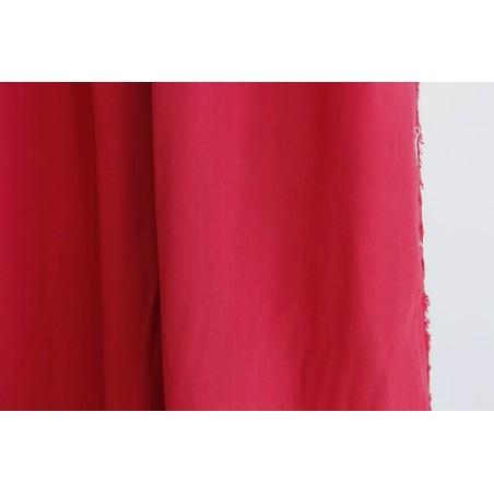 tissu lyocell rouge