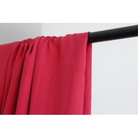 tissu tencel rouge
