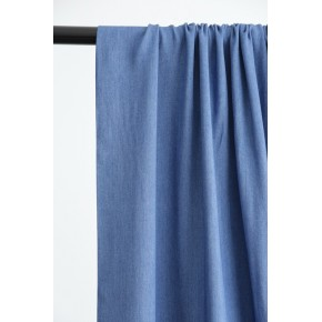 tissu viscose bleu denim