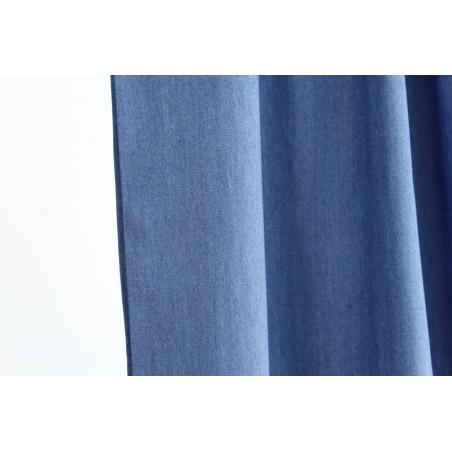 tissu viscose bleu moyen