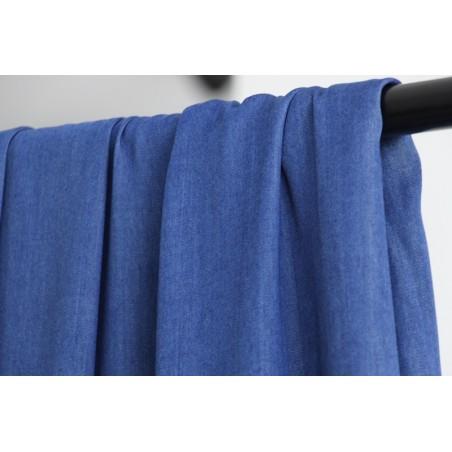 tissu viscose bleu brut