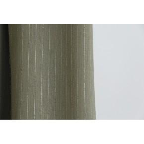 tissu crepon kaki lurex argent