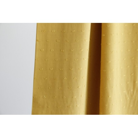 tissu viscose jaune plumetis