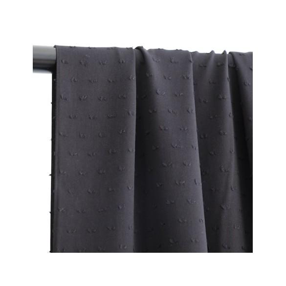 tissu viscose plumetis noir
