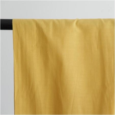 voile de coton jaune moutarde