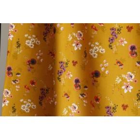 popeline coton fleurs