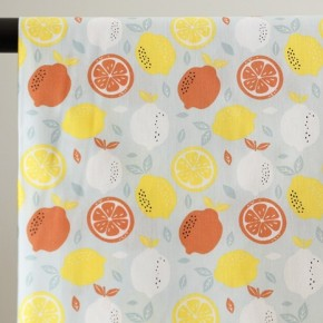 coton imprimé citron