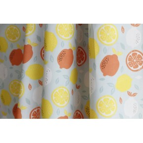 tissu popeline coton imprimé citron