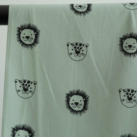 coton bio lions vert tendre