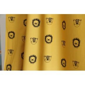 tissu imprimé lions - coton bio