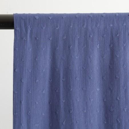 tissu crépon viscose - bleu jean