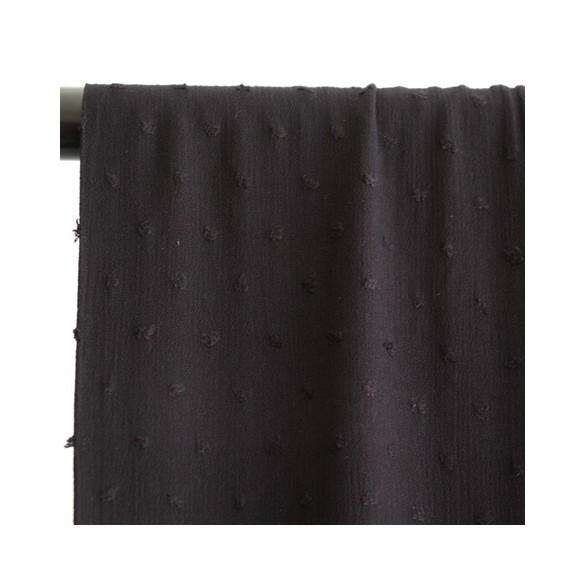 crépon de viscose plumetis noir