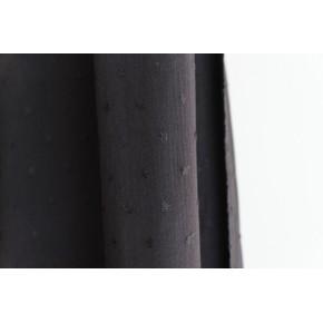 tissu crépon plumetis noir