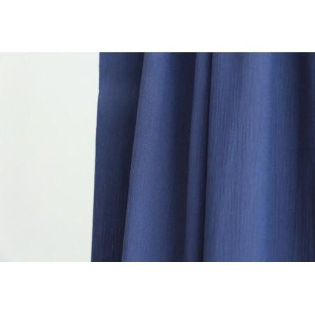 tissu crepon de viscose bleu jean