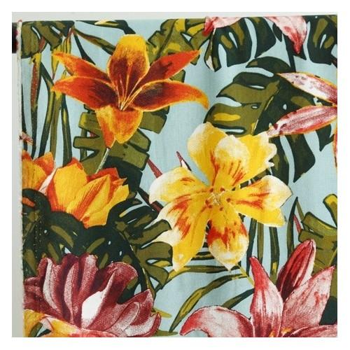 viscose imprimé tropical