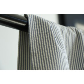 seersucker coton rayures bleu et écru
