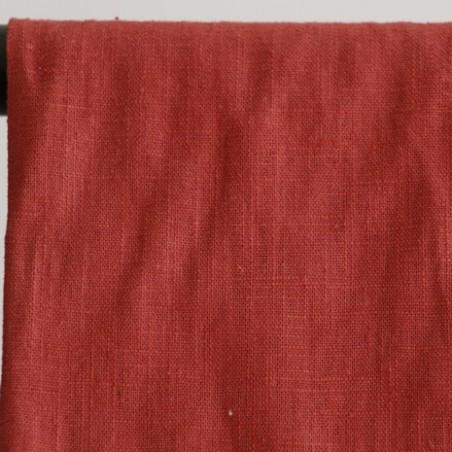 tissu ramie terracotta