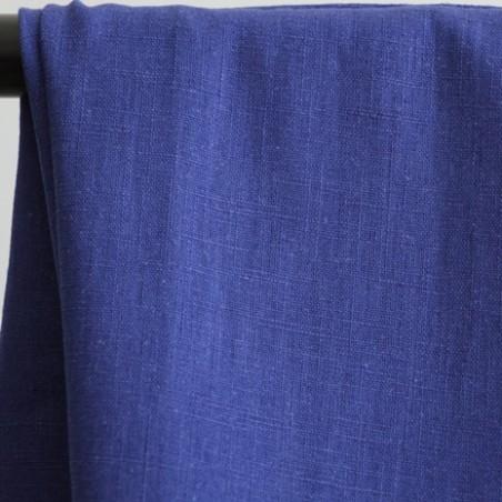 tissu ramie - bleu de chine