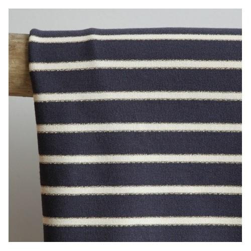 tissu jersey marinière