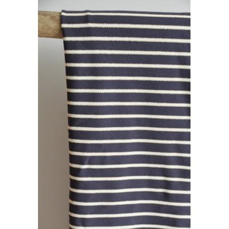 tissu pour marinières marine/écru/doré