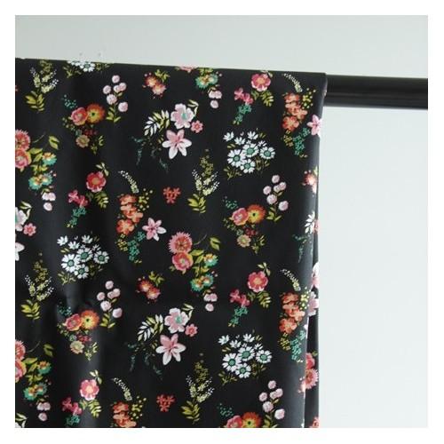 coton imprimé fleurs vintage