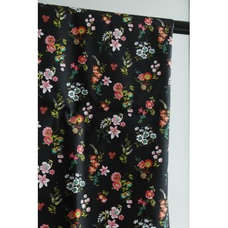 tissu coton imprimé fleurs oekotex