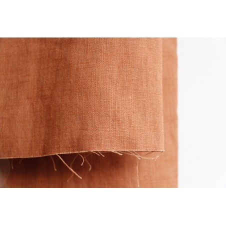 tissu lin coloris marron