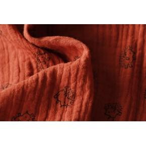 tissu double gaze enfant - rouille
